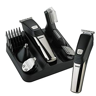 Electric Shaver Men's Electric Beard Scissors Hair Clipper, 6-in-1 Beard and Moustache Trimmer Set LK-800 USB Charger Electric Shaver by LKELEC