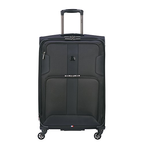 DELSEY Paris Sky Max 2.0 Softside Expandable Luggage with Spinner Wheels, Black