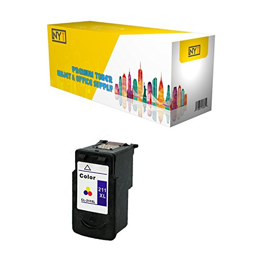 New York TonerTM New Compatible 1 Pack CL-211XL High Yield Inkjet For - PIXMA : PIXMA iP2700 | PIXMA iP2702 | PIXMA MP270 | PIXMA MP280 | PIXMA MP480 | PIXMA MP490. -- Color