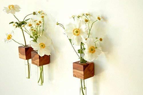 Kühlschrankmagnet aus Holz mit Vase, Blumenvase, Vase für den Kühlschrank