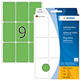 Herma 2475 - Etiquetas multiuso, 34x53 mm, papel mate, 288 unidades, color verde