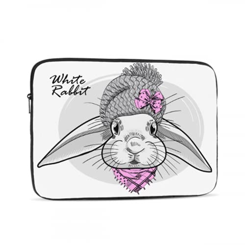 MacBook Cover Cute White Hairy Rabbits Carrot Mac Air Laptop Case Multi-Color & Size Choices 10/12/13/15/17 Inch Computer Tablet Briefcase Carrying Bag