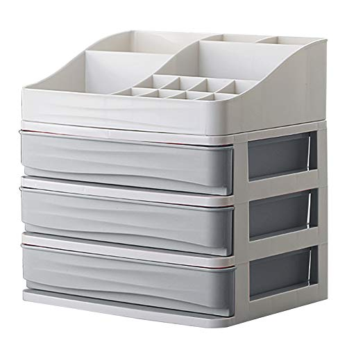 Make Up trucco organizzatore con cassetti Porta trucchi, organizer per cosmetici scatola portagioie acrilico organizer per cosmetici rossetti trucco organizzatore Holder box Taglia libera grigio