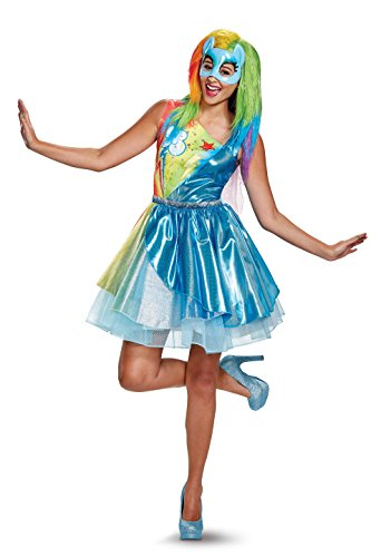 Disney Rainbow Dash Costume for Adults. Dress, wings and mask