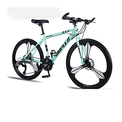 Mountain Bike Bicycle Adult Men and Women Speed Double Disc Brakes Shock Ultra Light Student Off Road Three Knife One Wheel (Color : Bianchi, Size : 27speed)