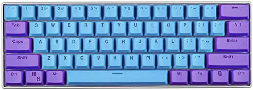 KEEZSHOP Teclas, 61 Teclas de Retroiluminación de Dos Colores Mecánico Teclado PBT Tecla Para GH60 / RK61 / ALT61 / Annie/Teclado Teclas de Poker, ...