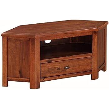 Mueble de TV esquinero de Madera Oscura para TV: Amazon.es: Electrónica