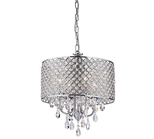 Luces colgantes de cristal clásicas plateadas modernas, lámpara de mesa de comedor redonda de metal, lámpara de techo de cocina LED simple para sala de estar, lámpara colgante rústica de dormitorio