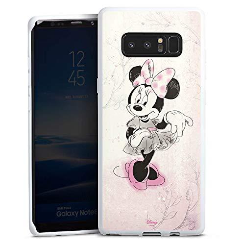 DeinDesign Silikon Hülle kompatibel mit Samsung Galaxy Note 8 Duos Hülle weiß Handyhülle Minnie Mouse Disney Vintage