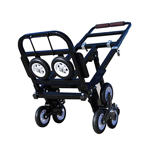 台車 階段 昇降 タイヤキャリーカート 荷物運ぶ 折りたたみ 引っ越し車 荷重190kg 静音 (style 2)