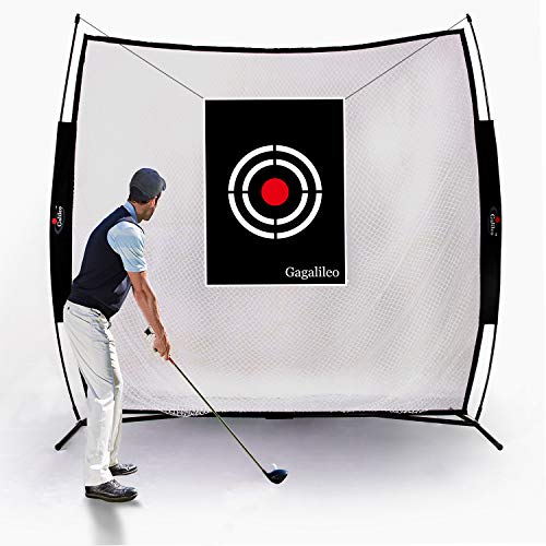 GALILEO Golf Practice Net 7x7Feet Golf Hitting Nets Driving Range Indoor Outdoor Golf Training Aids with Target Carry Bag