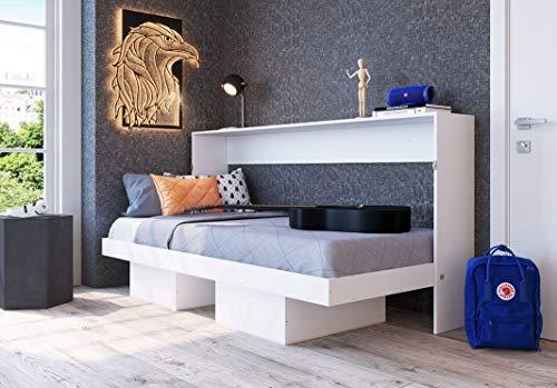 Cama Articulável Horizontal de Solteiro Branco - Art in móveis