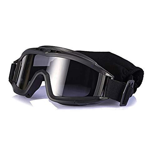 SMX Unisex Skibrillen Windschutz, Radfahren Motorrad Motorschlitten Skibrille, Outdoor-Sport-Ski-Brille (Color : Black)