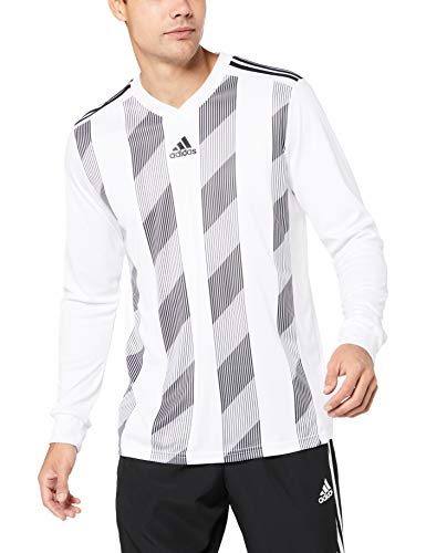 adidas STRIPED19 JSY L Camiseta de Manga Larga, Hombre, White/Black