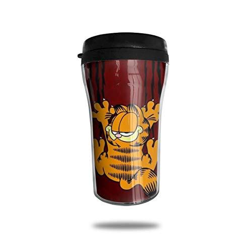 Garfield Cartoon-Katzen-Kaffeetassen, Reisebecher, Wärmer Tumbler Tasse, personalisierbar, Kunst-Wasserflasche, Thermos-Kaffeetassen mit Deckel, 250 ml