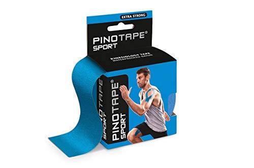 Pinotape Sport kinesiologisches Tape verschiedene Farben und Designs 5 cm x 5 m hautfreundlich (blau)