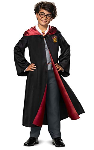 Disguise Harry Potter Costume Kids Deluxe Hooded Robe and Jumpsuit, Children Size Small (4-6), 107529L
