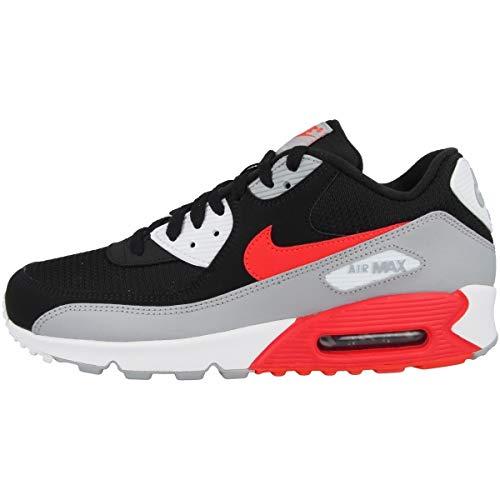 Nike Air MAX 90 Essential, Zapatillas de Gimnasia Hombre, Gris (Wolf Grey/Bright Crimson/Black 012), 39 EU