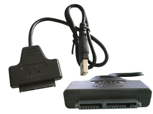 Kalea Informatique–Adaptador convertidor MicroSATA a USB 2.0–permite de leer y escribir sobre...