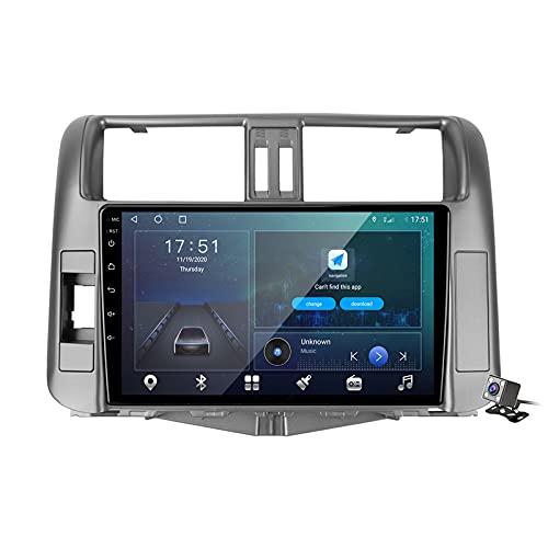 Android 10 Car Radio de Navegación GPS para Toyota Land Cruiser Prado 150 2009-2013 con 9 Pulgada Pantalla Táctil Support FM Am RDS DSP/MP5 Player/BT Steering Wheel Control/Carplay,M500