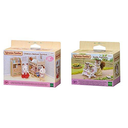 SYLVANIAN FAMILIES Children's Bedroom Furniture Mini muñecas y Accesorios, (Epoch para Imaginar 4254) + 4533 Carrito para Gemelos [Importado de Alemania]