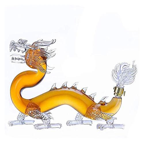 Wijnkist Dragon-vormige hand geblazen loodvrije hoge borosilicaatglas, 1000 ml rode wijnkaraf, wijncadeaus…