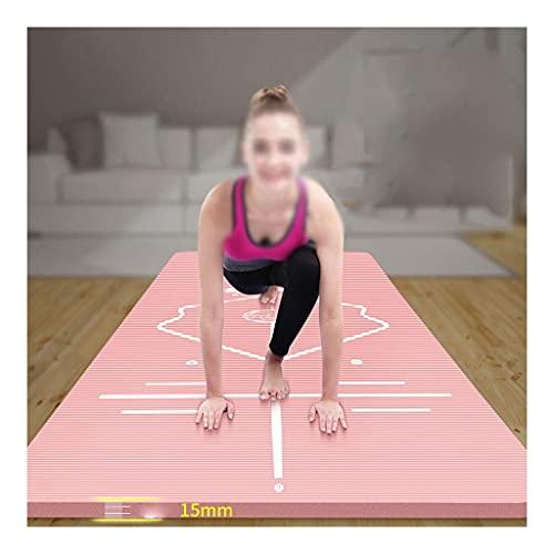 NBR Alfombrillas de yoga, estera de ejercicios de aptitud antideslizante, excelente capacidad de recuperación, diseño de línea de postura, utilizado para yoga, ejercicio físico y gimnasia 185x80x1.5cm