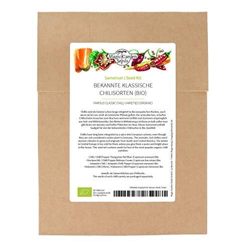 Variedades clásicas de chiles (Orgánico) - Se de semillas con 4 variedades tradicionales de chiles