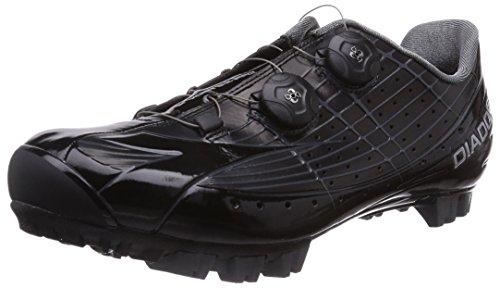 Diadora X VORTEX-PRO - Zapatillas de ciclismo de material sintético para mujer, Nero (Schwarz (schwarz/schwarz 2000)), 44