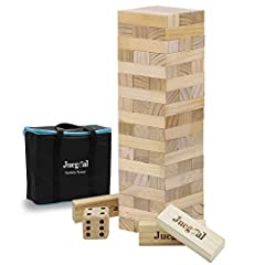 Great Game Gift: Suitable for people of all age, great game for indoors or outdoors, perfect for family gathering, picnics, birthdays, parties and everyday backyard fun! Includes 54 tumble tower blocks, each block is 6 x 2 x 1.3 inch. Overall Giant S...
