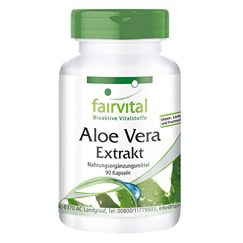 Aloe Vera Cápsulas - VEGANO - 90 Cápsulas - 200: 1 Aloe