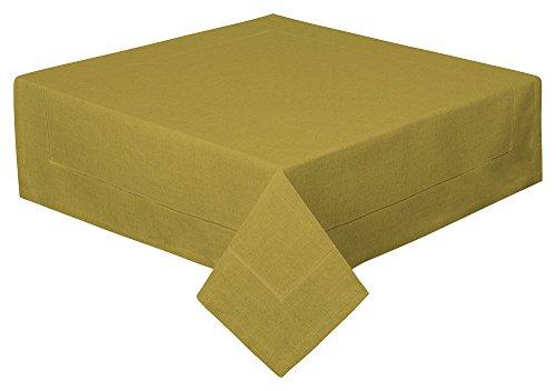 Schwar Textilien Tischdecke Decke Fleckschutz Leinenstruktur in 2 Größen und 11 Farben (Oliv, 100 x 100cm)