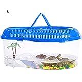 Sarplle Reptile Transportbox Schildkröte Faunarium Turtle Schutzkorb mit Trockenplattform und...