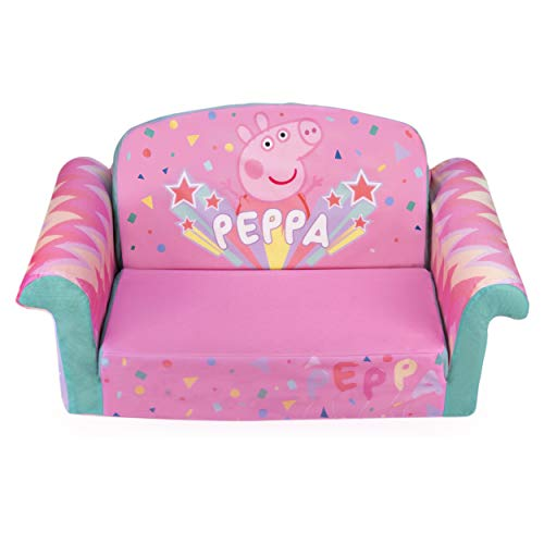 Marshmallow Furniture, Children's 2-in-1 Flip Open Foam Sofa, Peppa Pig, by Spin Master