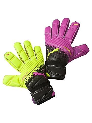 PUMA Torwarthandschuhe EvoPower Grip 2.3 RC, Pink Glo/Safety Yellow/Black/Tricks, 9