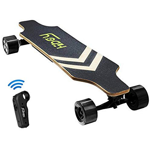 itnessclub Electric Longboard - 800W Dual Motorized Electric Skateboard with Wireless Remote Control