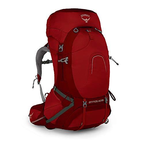 Osprey Atmos AG 65, sac de grande randonnée homme - Rigby Red (LG)