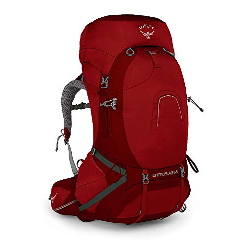 Osprey Atmos Ag 65 Backpack, Rigby Red, Medium