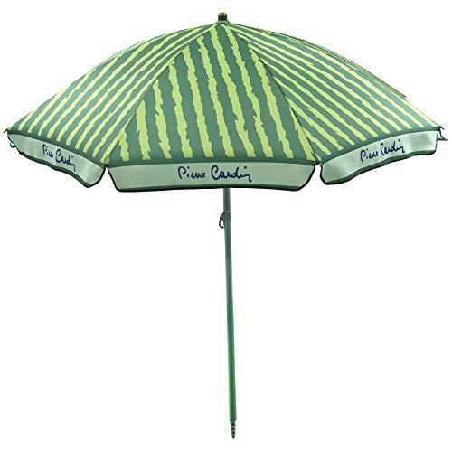 Pierre Cardin, Verde, Linea Haiti, Ombrellone Spiaggia Taormina, Raggi, palo Acciaio, Cotone, 200 cm