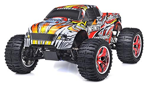 Exceed RC 1/10 2.4Ghz Infinitve Nitro Gas Powered RTR Off Road Monster 4WD Truck Stripe RedSTARTER KIT Required and Sold Separately