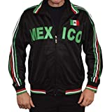 Swift Pigeon Apparel Mexico Mexican Pride Striped Flag Men's Unisex Adult Full Zip Sport Track Jacket (XL Black)