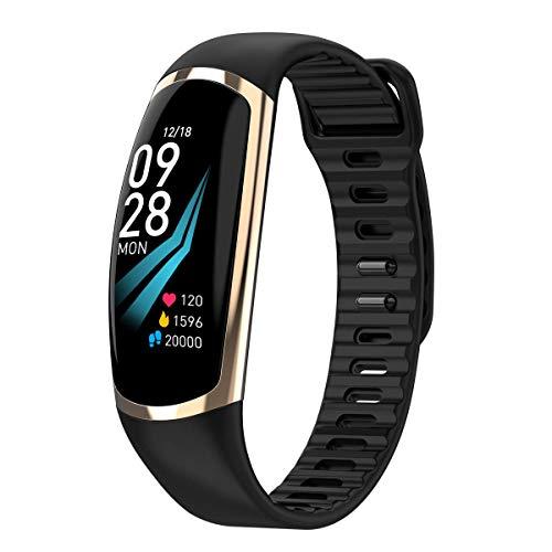 JGRH Pulsera Inteligente R16, Reloj Inteligente con calorías de la presión Arterial y Monitor de sueño podómetro, Monitor de Ejercicios a Prueba de Agua IP68