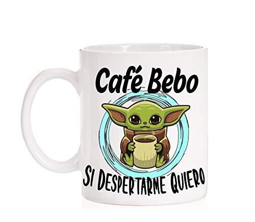 FUNNY CUP Taza Café Bebo si despertarme Quiero. Taza Baby Divertida de Regalo