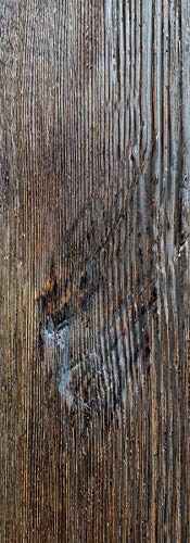 Eleni Wood - EW106 - Trave decorativa in finto legno, lunghezza 2 metri, in poliuretano leggero e resistente, per soffitto, con scasso per passaggio cavi, personalizzabile in 10 colori (Noce Scuro 52)