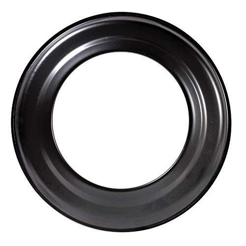 FIREFIX R150/R Ofenrohrrosette für 2 mm starken Ofenrohre/Rauchrohre in 150 mm Durchmesser, für Kaminöfen und Feuerstellen, Senotherm, schwarz, starr, Stahl