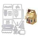VINFUTUR Troqueles Cajas Scrapbooking Navidad Troqules Corte Metal Plantillas Troquelado Dies para Decoración Regalos Navideños Artesanía Papel DIY Manualidad
