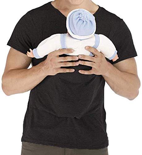 KURAZL Papa Babytrage T-Shirt Männer Känguru Multifunktionskleidung Stillen Babytrage Wickeloberteil Rundhals Casual Tank Menswear,M