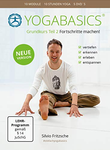 YOGABASICS Grundkurs Teil 2: 10 Stunden Yoga für Fortgeschrittene (5 DVDs inkl. Online Zugang)
