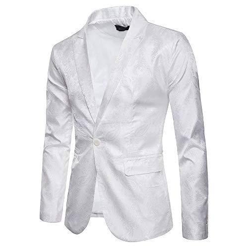 Zarupeng Slim Fit een-knops pak elegant businesscasual pak blazer effen jas jas bovenkleding