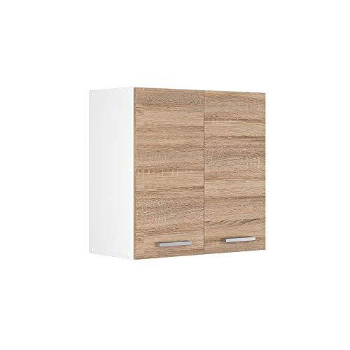 Vicco Küchenschrank R-Line Hängeschrank Unterschrank Küchenzeile Küchenunterschrank Arbeitsplatte, Möbel verfügbar in anthrazit und weiß (Sonoma ohne Arbeitsplatte, Hängeschrank 60 cm)